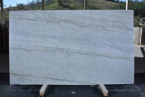 "Sea Pearl/Blue Thunder 3cm Quartzite Group ""I"" #12618,  78×131"