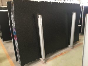 "Black Pearl Leathered granite 3cm bundle# 1234 group ""C"" 127×76"