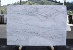 """White Maldive 3cm Quartzite #12955 Group """"I"""" 79×118"""