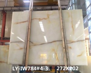 "White Onyx – 3cm LY-IW784#4-3 Group ""H""  79×106"