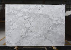 "Super White / polished 3cm quartzite GROUP ""J"" #6490 size 78×113"