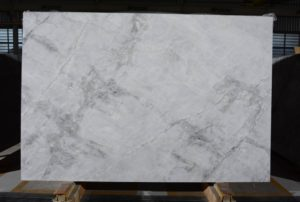 "Super White / leathered 3cm quartzite GROUP ""J"" #7395 size 79X118"