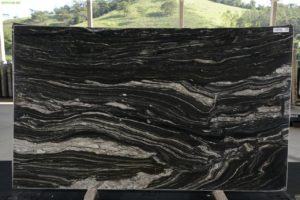 Explosion Black 3cm Granite / #13148 (75″ x 126″) Group E