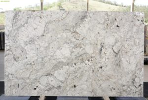 White Acquarius 3cm Granite / #13335 (80″ x 130″) Group G