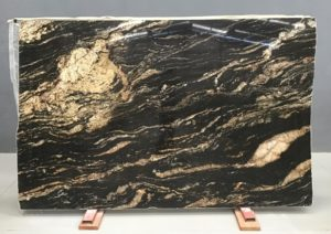 Black Amber / Magma Gold Granite 3cm / #11004 (76″ x 115″) Group G