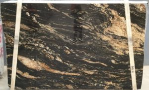 Black Amber / Magma Gold Granite 3cm / #4211 (76″ x 115″) Group G