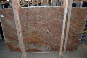 Fire Bordeaux / Crema Bordeaux 3CM Granite (116″ x 69″) Group C