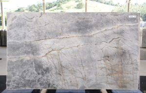 Platinum Blue / Montezul 3cm Quartzite / #13375 (133″ x 78″) Group H