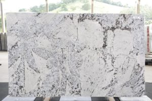Antarctica White 3cm Polished Granite / #13479 (124″ x 76″) Group F