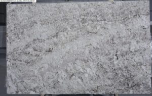 "Alaska White 3cm Granite #28557 (123″ x 78″) Group ""F"""