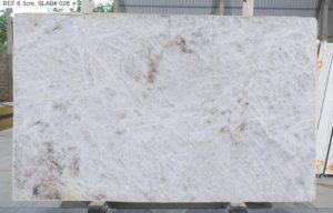 """Crystallo / Crystal White Polished Quartzite 3cm (75"""" x 122"""") Group EXOTIC #38162"""
