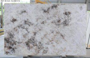 "Crystallo / Crystal White Quartzite 3cm (75"" x 122"") Group ""J"" #38163"