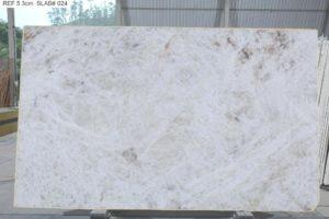"""Crystallo / Crystal White Polished Quartzite 3cm (75"""" x 122"""") Group EXOTIC #36254"""