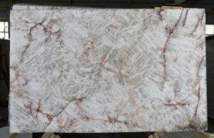 "Crystallo / Burgundy Crystal 3 cm Polished Quartzite #8106 ( 78″ x 127″ ) Group ""EXOTIC"""