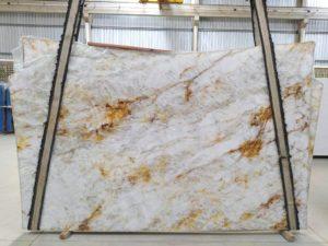 """Crystallo 3cm Polished Quartzite #1418 ( 76″ x 127″ ) Group """"EXOTIC"""""""