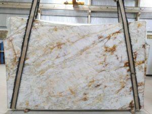 """Crystallo 3 cm Polished Quartzite #4418 ( 76″ x 127″ ) Group """"EXOTIC"""""""