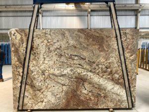 "Typhoon Bordeaux 3 cm Polished Granite #21798 ( 79″ x 122″) Group ""F"""
