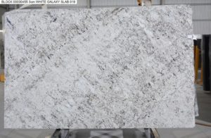 "White Galaxy 3cm Granite Polished #030455 ( 76″ x 125″ ) Group ""E"""