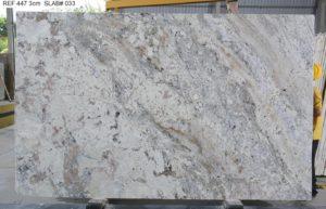 White Pardise Polished Granite 3 cm #36499 ( 78″ x 125″ ) Group B