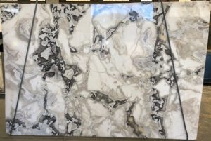 Dover White 2cm Marble Polished #1227 ( 73″ x 108″ ) Group EXOTIC